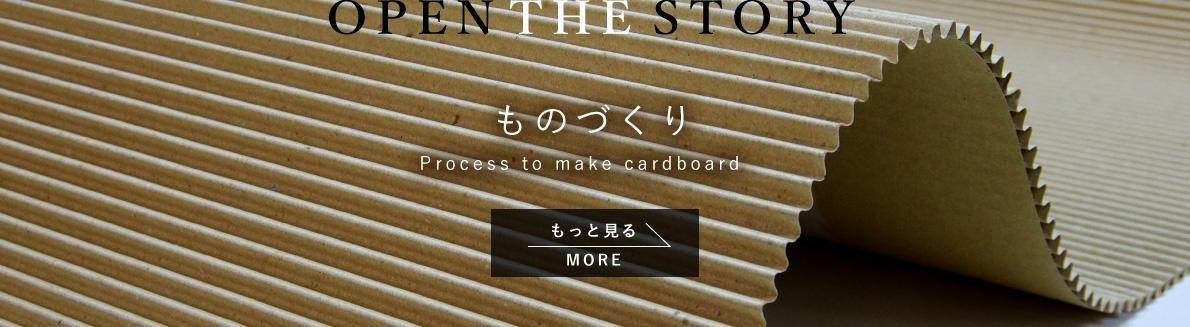 ものづくり -Process to make cardboard-